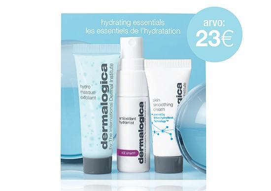 LAHJAKSI Hydrating Essentials -etupakkaus kosteuttamaan kuivaa  talvi-ihoa.